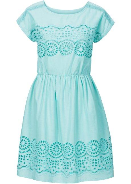 Hübsches Kleid mit Gummizug in der Taille - pazifikgrün