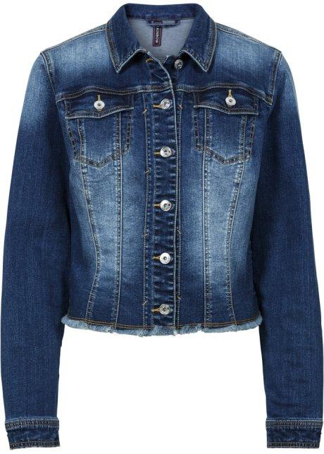 Jeansjacke langarm in blau von bonprix Bonprix Günstiger Versand Besuchen Online-Verkauf Neu fN1F9