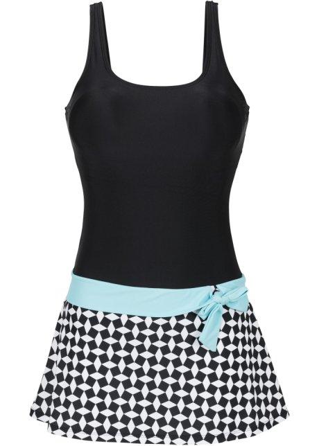 7ff8611e6cd7b7 Schönes Badekleid im Fifties-Look - schwarz/weiß