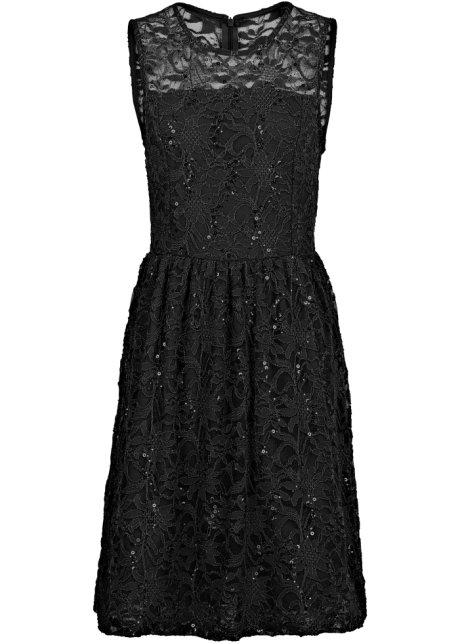 Kleid schwarz tellerrock