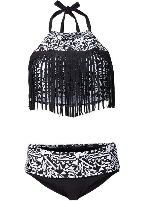 a610929d03742 Angesagter Bikini mit grafischem Print - schwarz/weiß