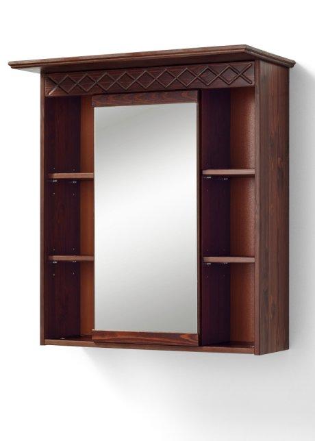 Geräumiger Spiegelschrank Isa Mit Wunderschöner Holzstruktur