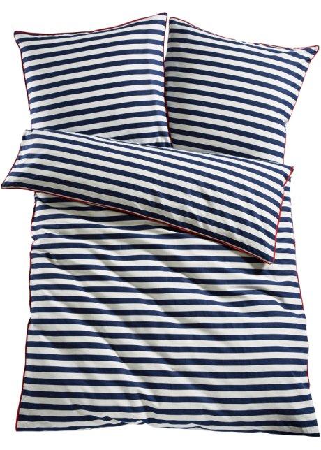 Bedruckte Bettwäsche Maritim Streifen Traumhaft Kuschelig Blau