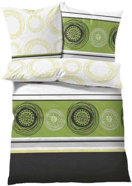 Rundum Ein Genuss Die Bettwäsche Kreise Grün Linon