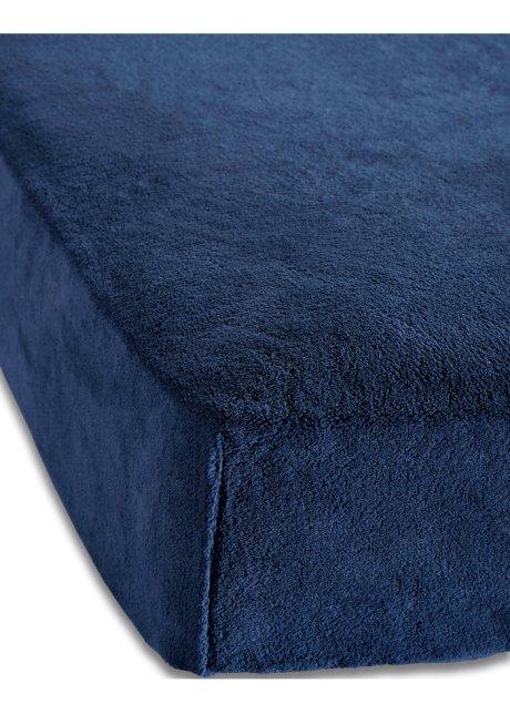 Flauschig Weiches Spannbettlaken Cashmere Touch Blau
