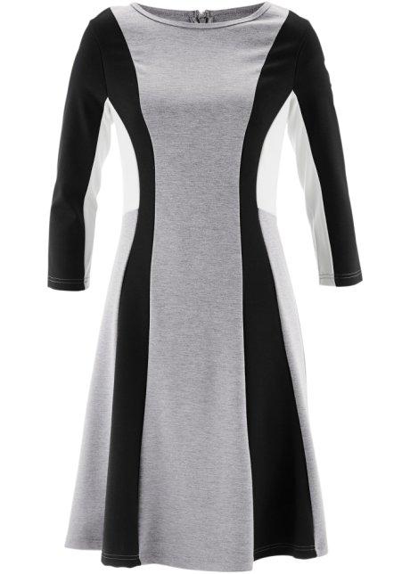 und ausgestelltem Saum Schönes Einsätzen Kleid mit kontrastierenden vm0N8nOw