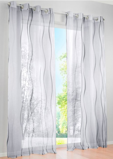 gardinen wei silber my blog. Black Bedroom Furniture Sets. Home Design Ideas