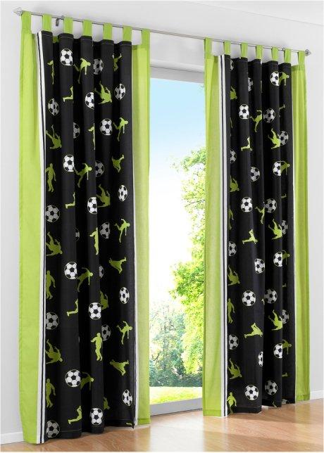 Fantastischer Vorhang für alle kleinen Sportler   grün, Schlaufen