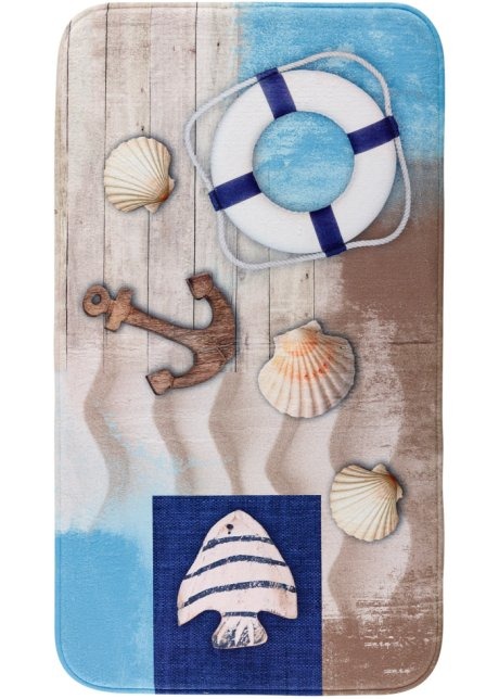 Wie Ein Tag Am Meer Badematte Maritim Blau
