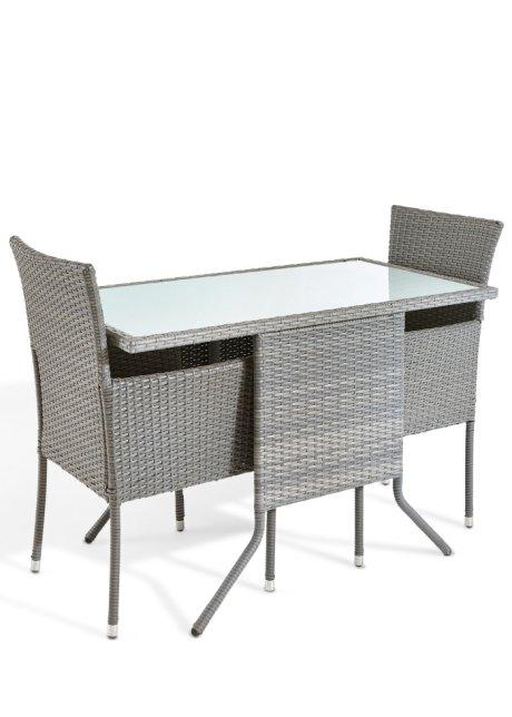 Hochwertig und modern: das 5-tlg. Balkonmöbel-Set \