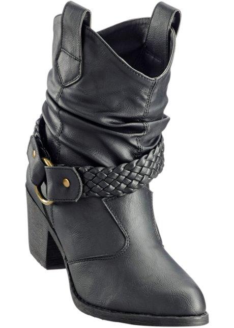 Schlupf-Stiefel in schwarz für Damen von bonprix 5bzXucfYH4