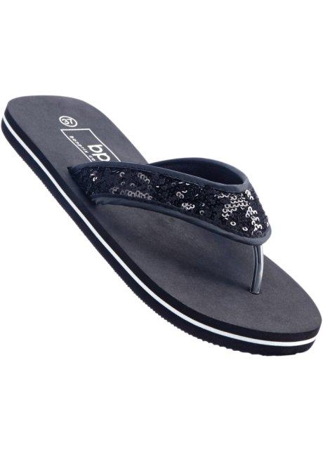 Zehenstegpantolette in schwarz von bonprix KSwKc