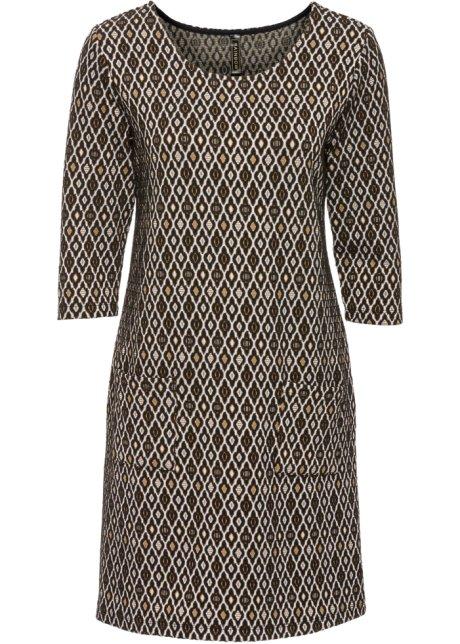 Kleid braun gemustert