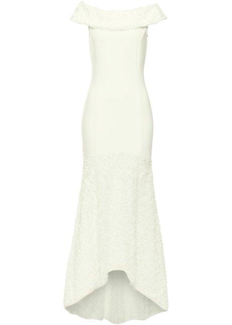 Traumhaft schönes Hochzeitskleid mit Spitze - creme