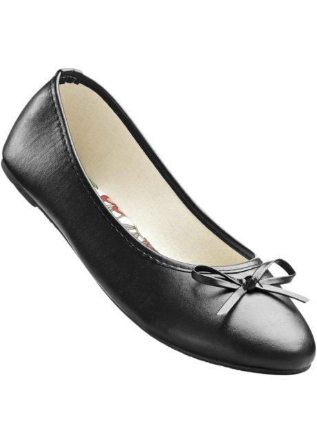 Komfortable Ballerinas in schwarz für Damen von bonprix H82YX1