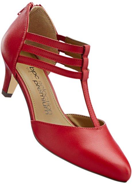 Lederspangenpumps in rot für Damen von bonprix Mode-Stil Günstig Online hxYWnF2jD