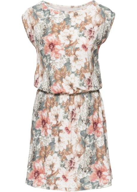 b4455516a980 Jersey-Kleid rosa grau bedruckt - Damen - bonprix.de