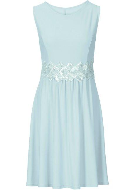 Kleid mit Spitzeneinsätzen ohne Ärmel in grün von bonprix Bodyflirt efW27MRx