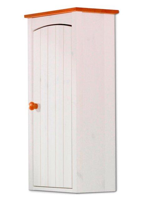 Stauraum fürs Bad in skandinavischer Optik - weiß, mit einer Tür
