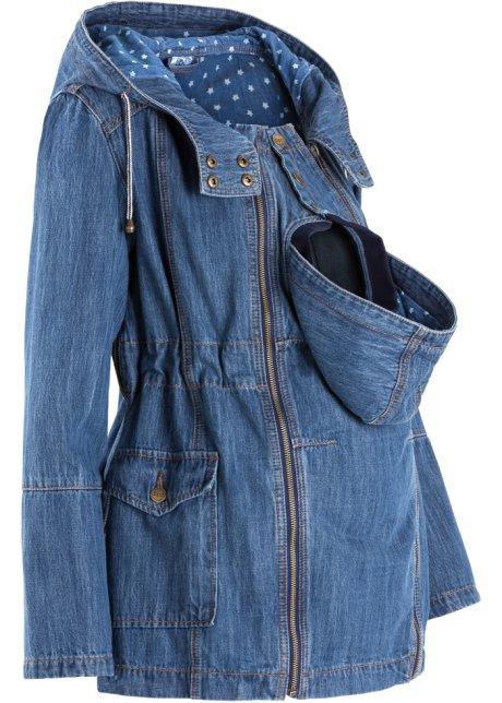 Jeansjacke langarm in blau (Rundhals) von bonprix Bonprix Online Zum Verkauf Spielraum-Shop Pw8kqjrm9