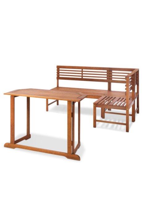Balkonmöbel zusammen oder einzeln nutzbar das balkonmöbel set tung natur