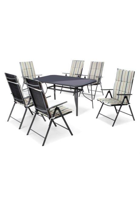 Schöne Sitzgruppe mit Tisch: das 13-tlg. Gartenmöbel Set \