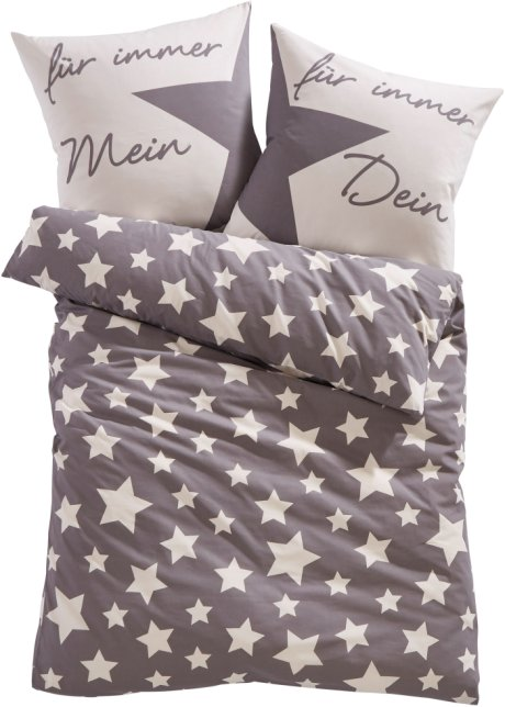 Dekoriert Den Schlafbereich Die Bettwäsche Lenamit Sternen Grau