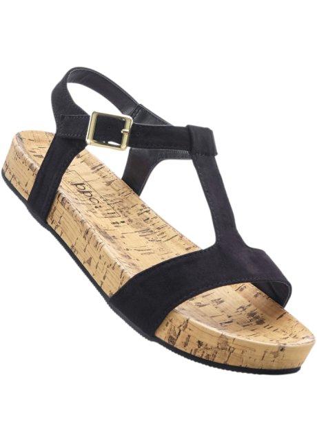Sandale mit 2 cm Flach in weiß von bonprix Billig Authentisch Rabatt Top-Qualität Billig Viele Arten Von h5qfQ4MrkT