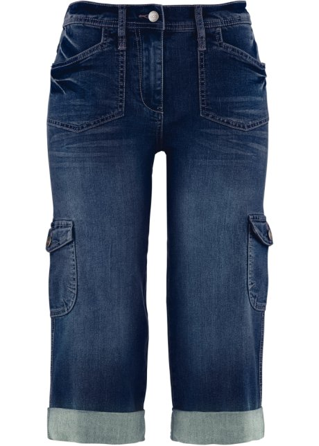 375043ed74d9 Cargo-Stretch-Jeans in Caprilänge, bpc bonprix collection