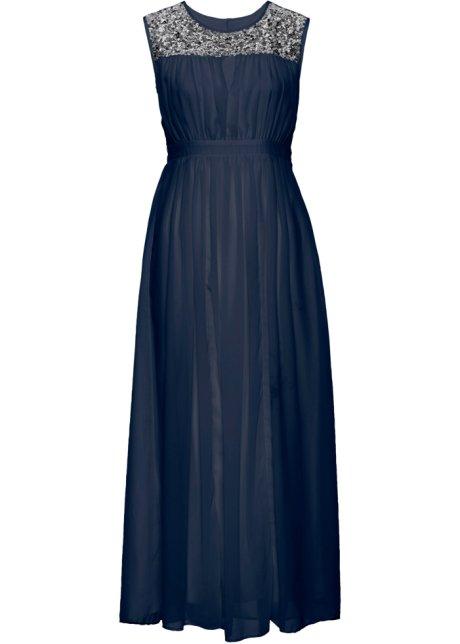 Elegantes Abendkleid mit Pailletten - dunkelblau ea8a8bfc83