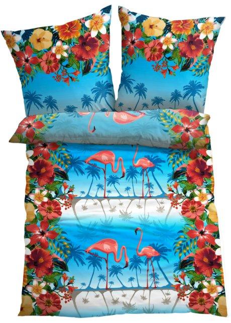 Mit Farbenfroh Tropischem Motiv Die Bettwäsche Flamingo Multi