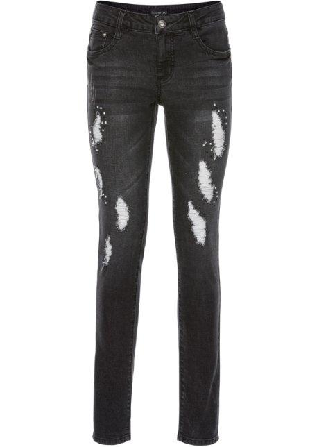 jeans mit glitzersteinchen