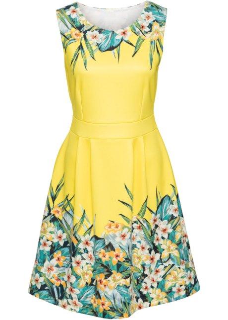 f992e392290946 Kleid mit Blumenprint gelb grün geblümt - BODYFLIRT boutique online ...