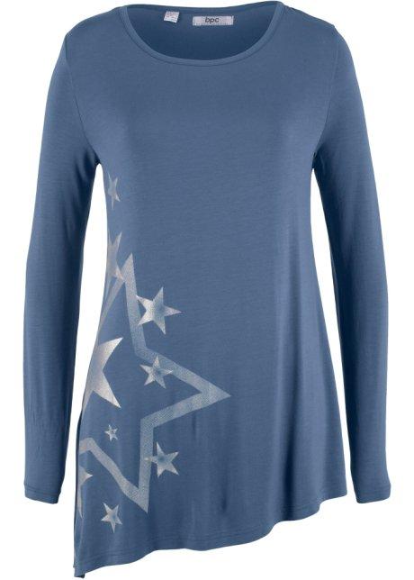 559861981617 Modisches Zipfel-Shirt mit Sternenprint - indigo bedruckt