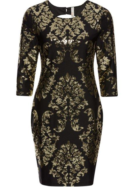 990f3581a7a Glamouröses Kleid mit Cut-Out - schwarz gold