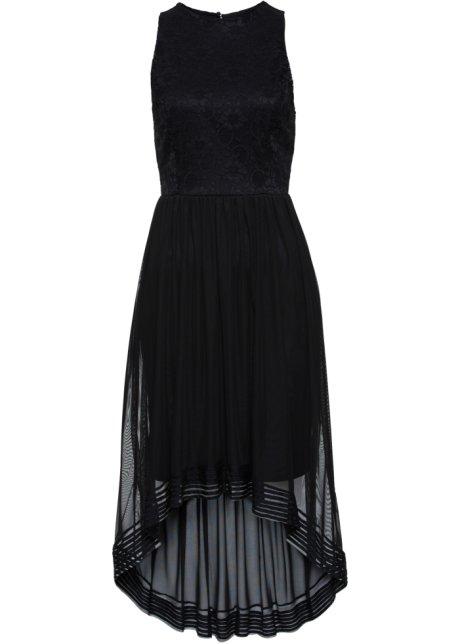 7f7443eae7b4 Schickes Kleid mit floralem Spitzenmuster - schwarz