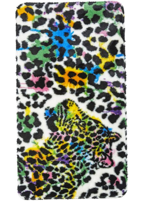 Gestrickte Badematte Leopard Im Originellen Design Bunt