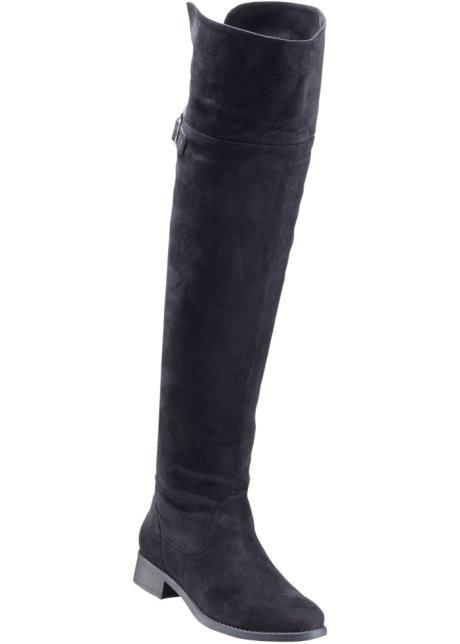 Overkneestiefel in schwarz für Damen von bonprix