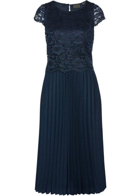 Kleid dunkelblau midi