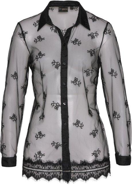mesh bluse