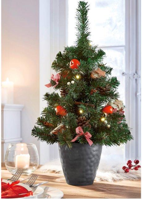 Mini Weihnachtsbaum Mit Batterie.Künstlicher Led Weihnachtsbaum Mit Umfangreicher Dekoration