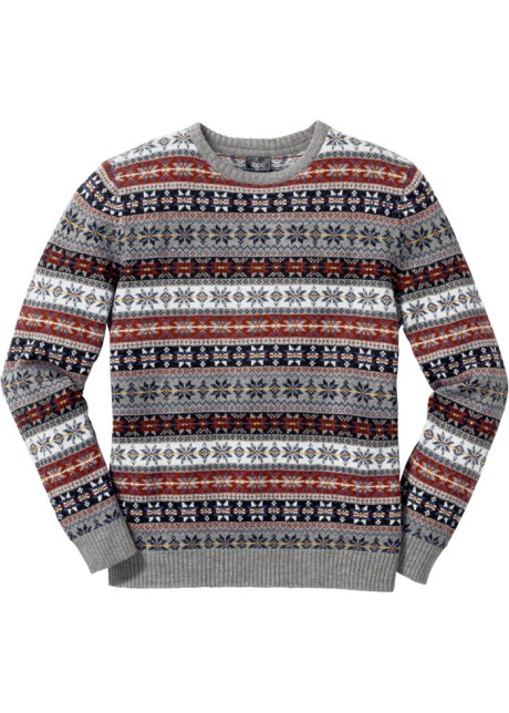 finest selection 967e8 606ae Fein gestrickter Norweger-Pullover mit Allovermuster