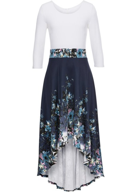 Vokuhila Kleid mit Blumenprint