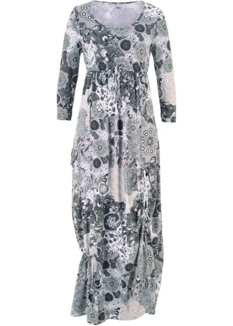 Shirt-Kleid mit halblangen Ärmeln halber Arm in weiß von bonprix Bonprix K24q2o