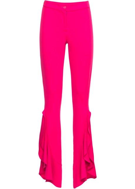 Hose mit Volants in pink für Damen von bonprix UPYqyo