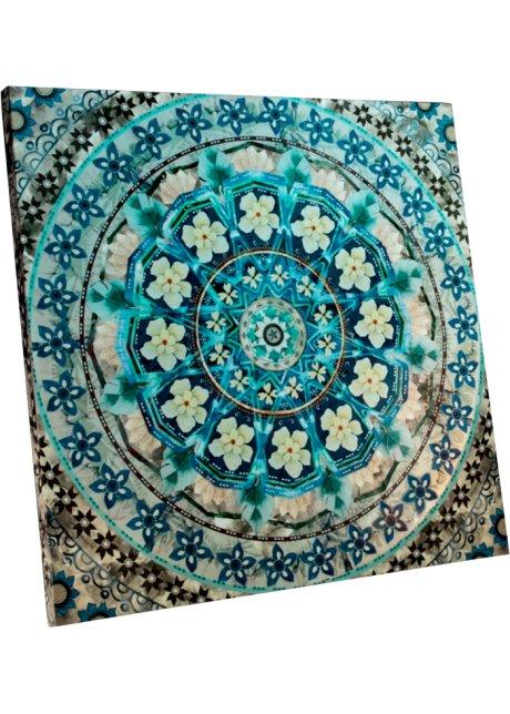 Edles Wandbild Blue Mandala Blau
