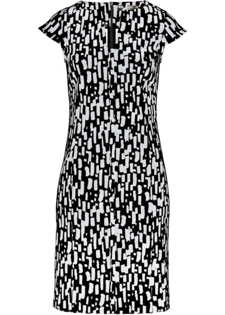 32b218ed453e Shirtkleid schwarz weiß bedruckt - Damen - bonprix.de