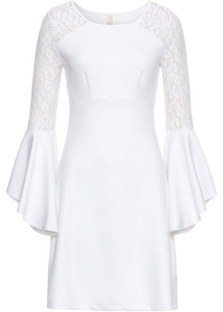 guter Verkauf neuer Stil & Luxus 2019 Neupreis Kleid mit Volant und Spitze