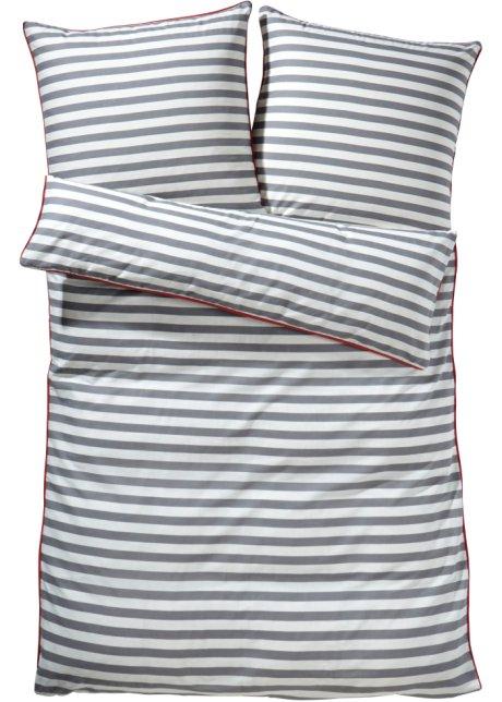 Bedruckte Bettwäsche Maritim Streifen Traumhaft Kuschelig Grau