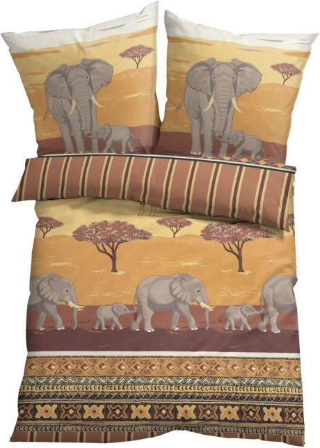 Exotischer Blickfang Die Bettwäsche Kenia Creme Linon